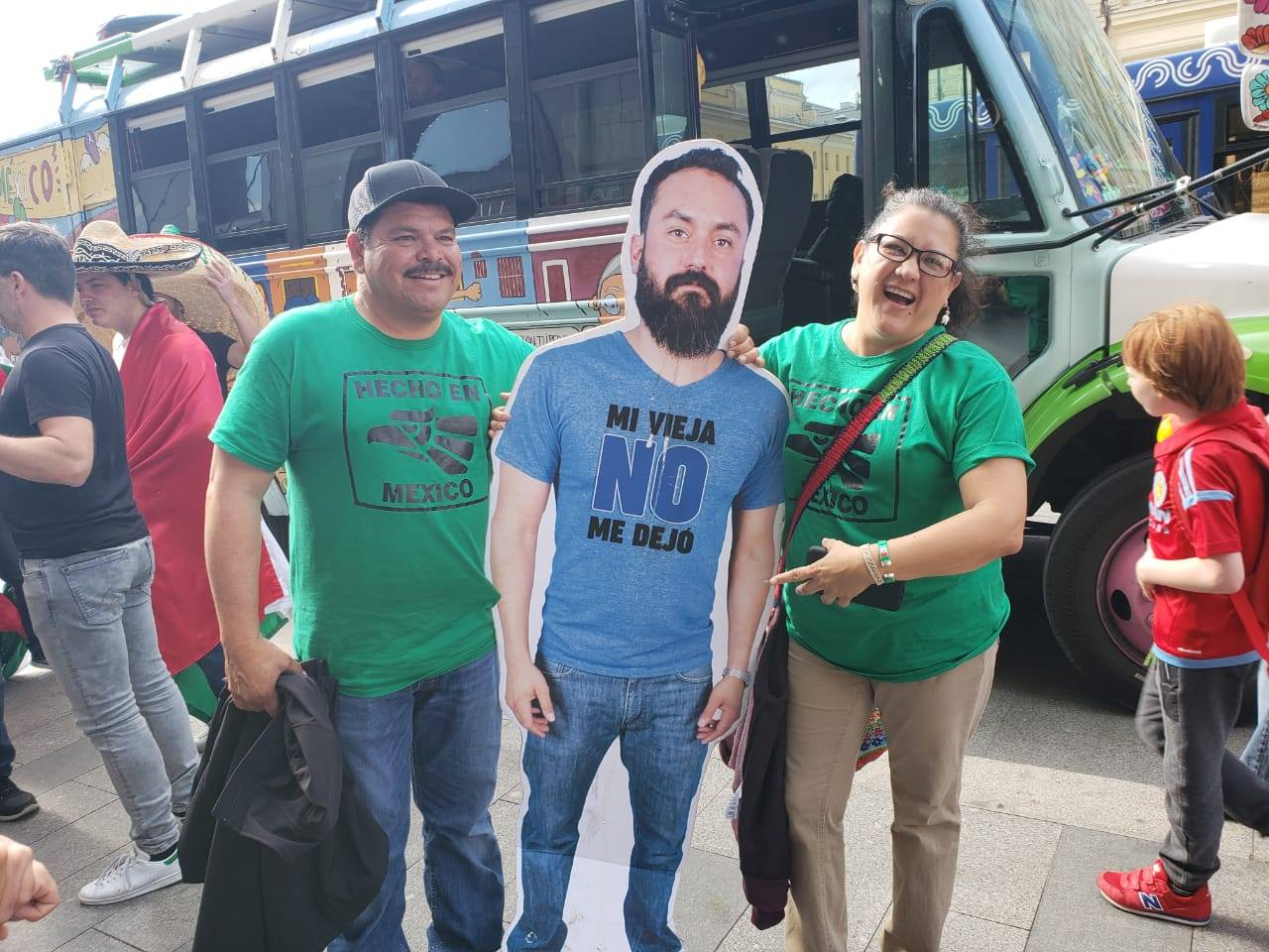 friends Bring Life-Size Cardboard Cut Out Of Friend Whose Wife Didn't Let Him Go To World Cup