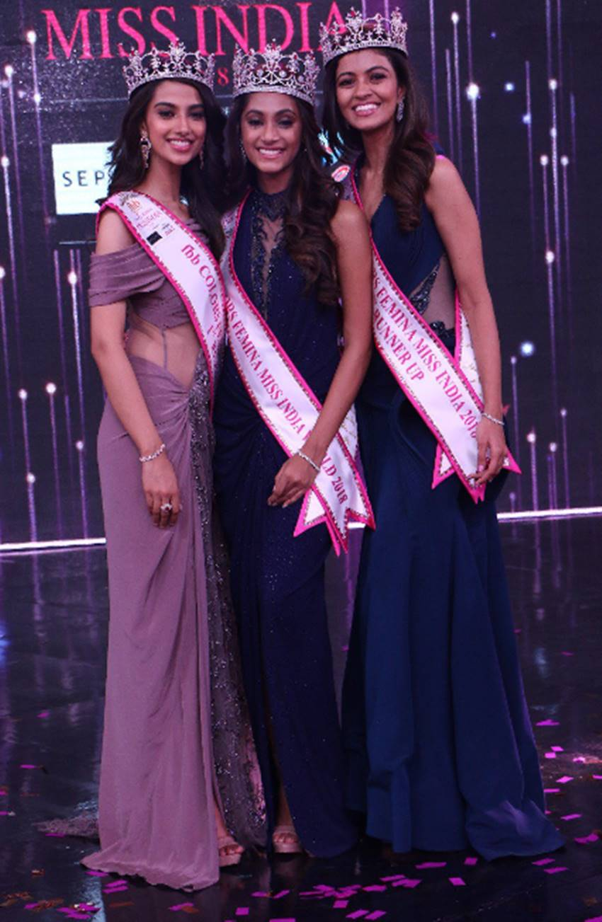 anukreethy vas crowned as femina miss india 2018