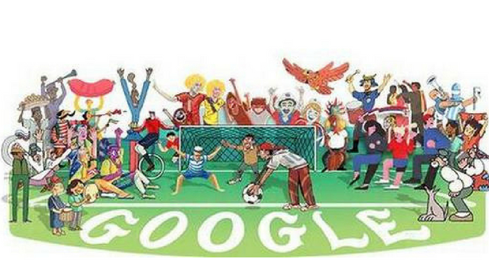 Google doodle to celebrate FIFA World Cup 2018