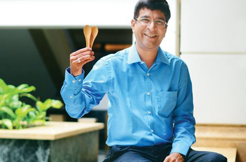 man behind edible cutlery india