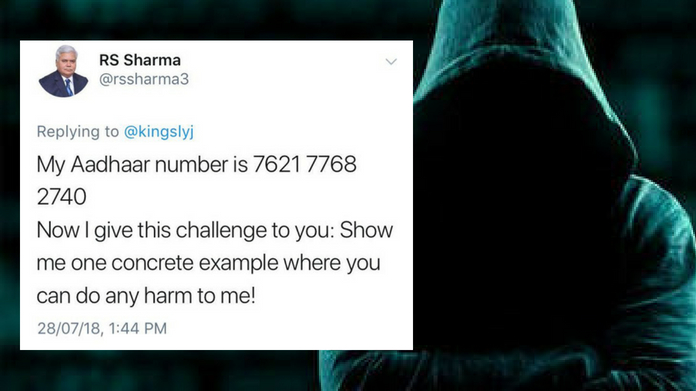 hacker reveals private information of RS Sharma