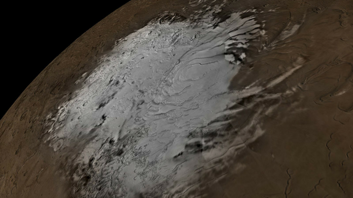 liquid water lake found on mars