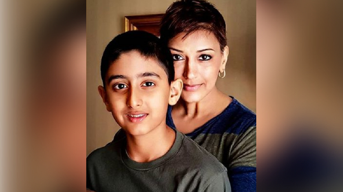 sonal bendre tells son about cancer