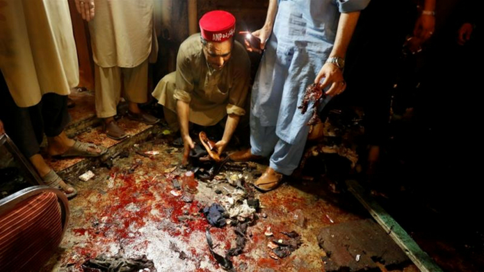 suicide bombing in election rally killed 13