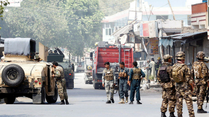 attack in government building in afghanistan 15 killed