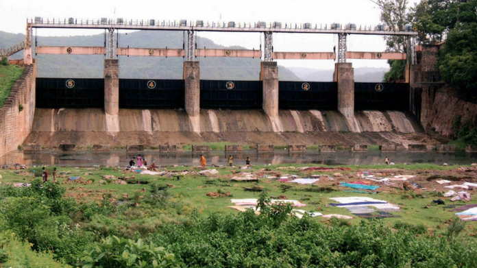 red alert in pampa dam