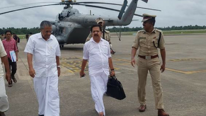 ramesh chennithala donates one month salary to cm disaster relief fund
