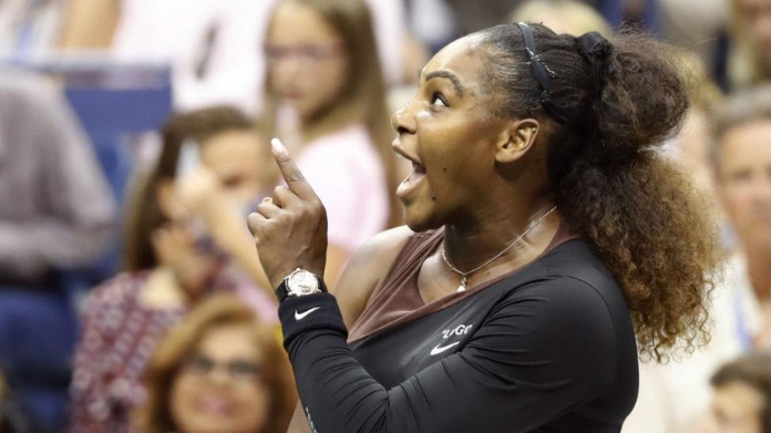 serena williams imposed with 17000 dollar fine