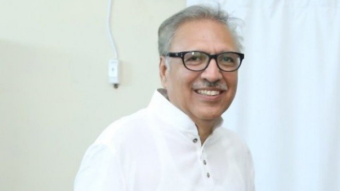 arif alvi to be new pak prez