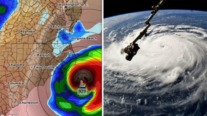 florence hurricane approaches america