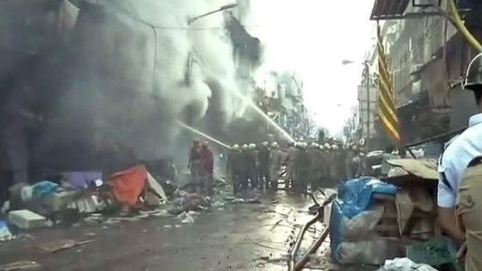major fire breakout in kolkatta market