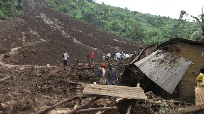 land slide at Uganda