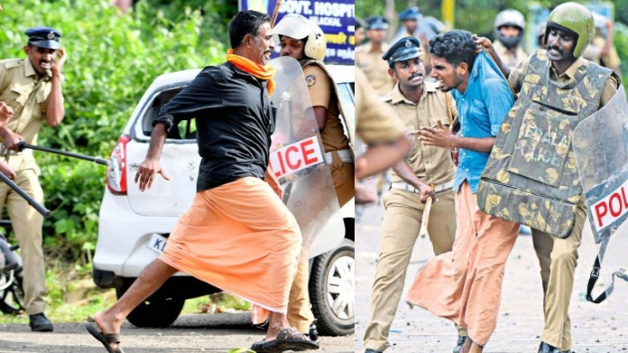 58 cases registered and 320 booked on conflict in sabarimala