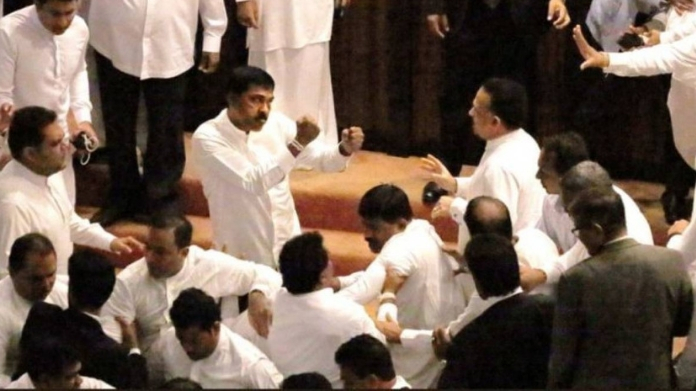 mp conflict in srilanka parliament