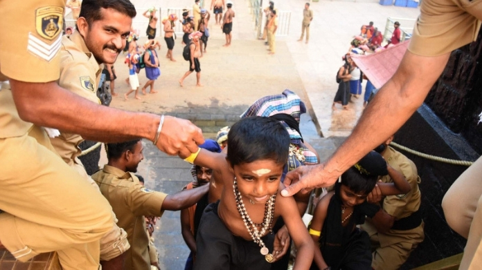 child rights commission to investigate on complaint that children were arrested in sabarimala