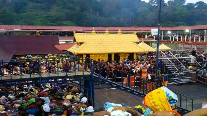 bjp to violate curfew in sabarimala today