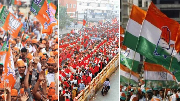 political party procession kick starts election heat in kerala