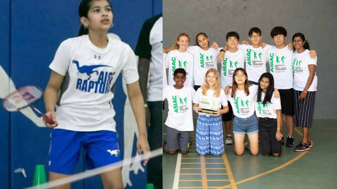 vijay daughter tops in badminton see pics