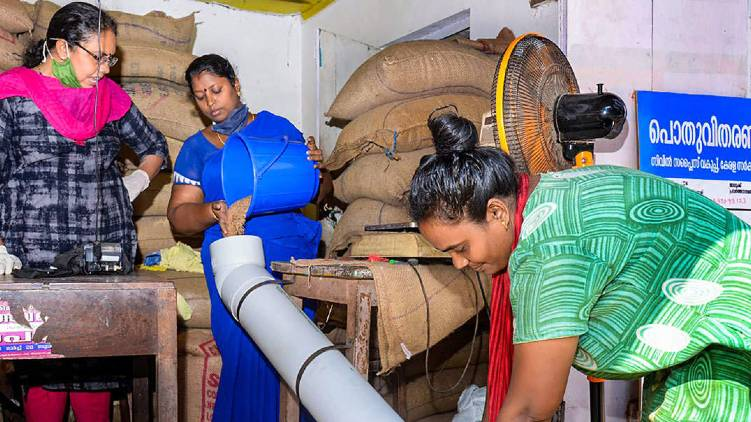 Biometric logging in ration shops: Sanitizer should be used