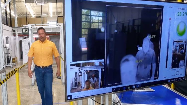 Infrared walk through thermal scanners at four airports in Kerala