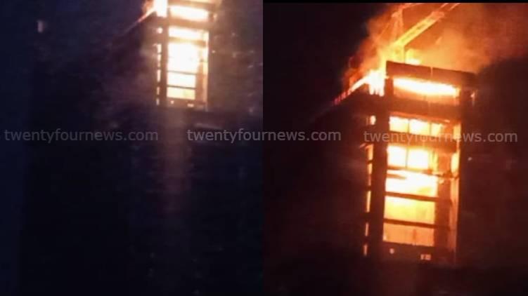 fire in two multi-storeyed building in Kochi; migrant workersdies