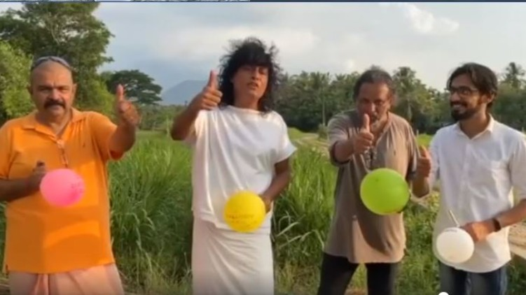 Boby Chemmannur balloon blowing challenge