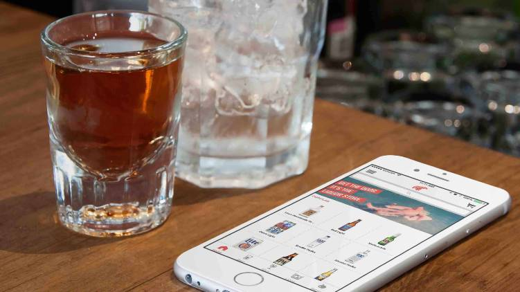 mobile app for liquor sale