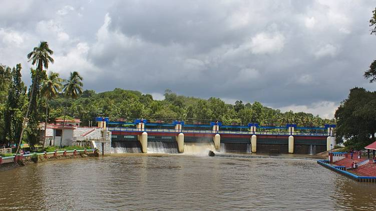 aruvikkara dam shutter opened
