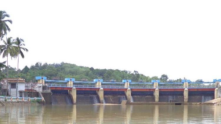 aruvikkara dam shutter lifted