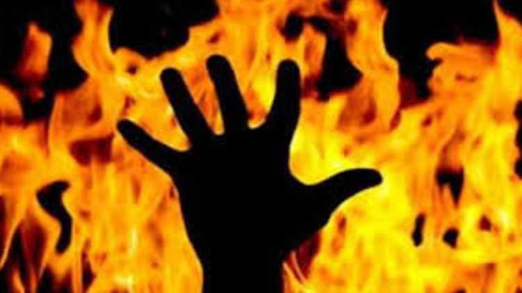 burned died