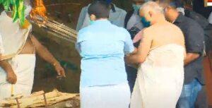 mp veerendrakumar cremated
