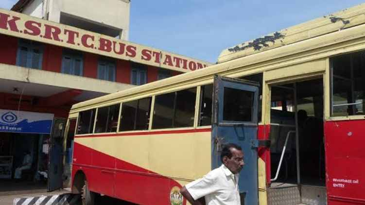 Employees protest at Sultan Bathery KSRTC depot