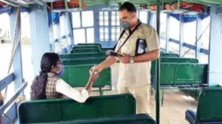 kerala plies 70 seat boat plus one student write exam