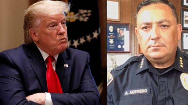 Houston police chief against trump