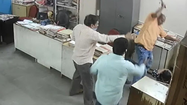 Government Employee Hits Woman