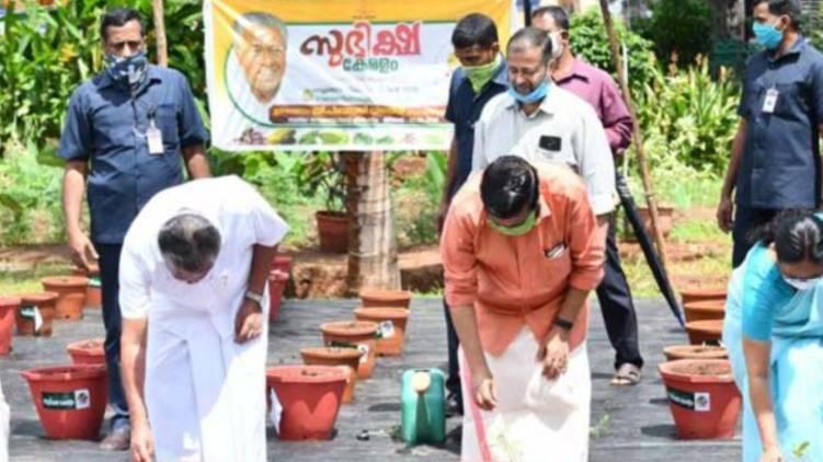 subhikshakeralam ;CM to plant vegetables in Secretariat