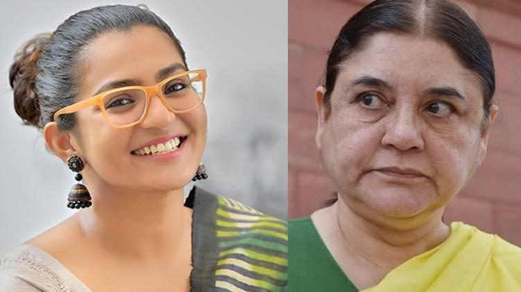 parvathy thiruvoth tweet against maneka gandhi