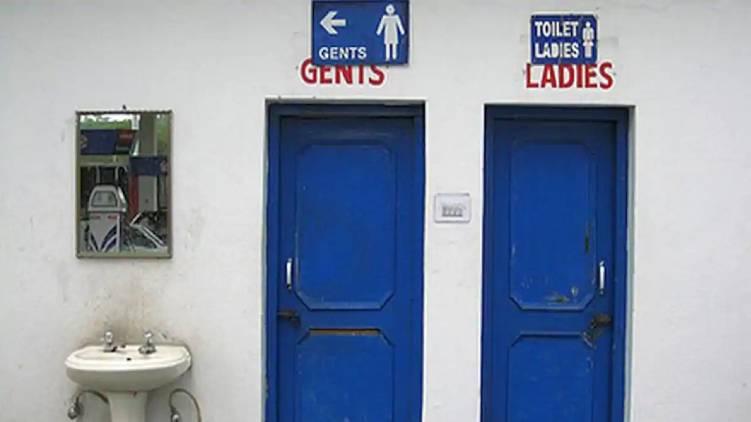 public toilet doors india