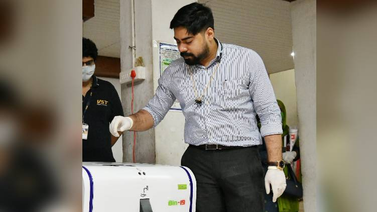Automated system for disinfect mask in collectorate