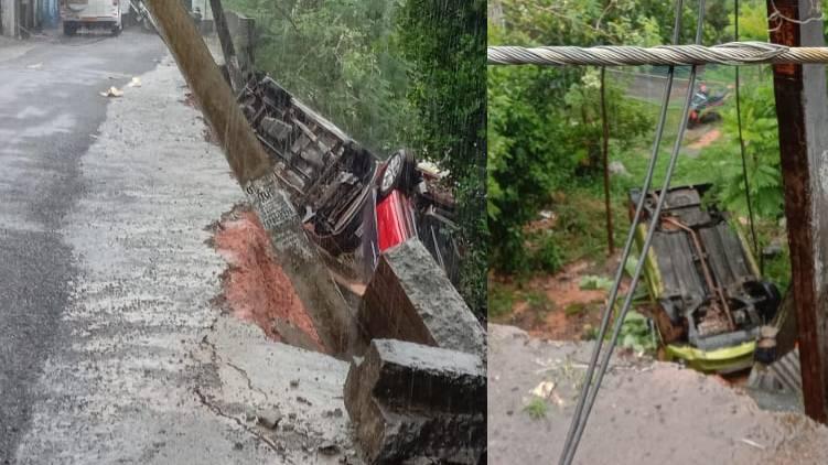 edappally vattekkunnam road collapsed