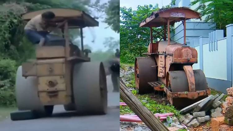 vellanakalude naadu road roller for auction