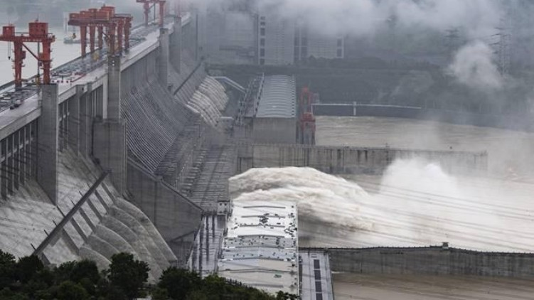 china destroyed dam floods