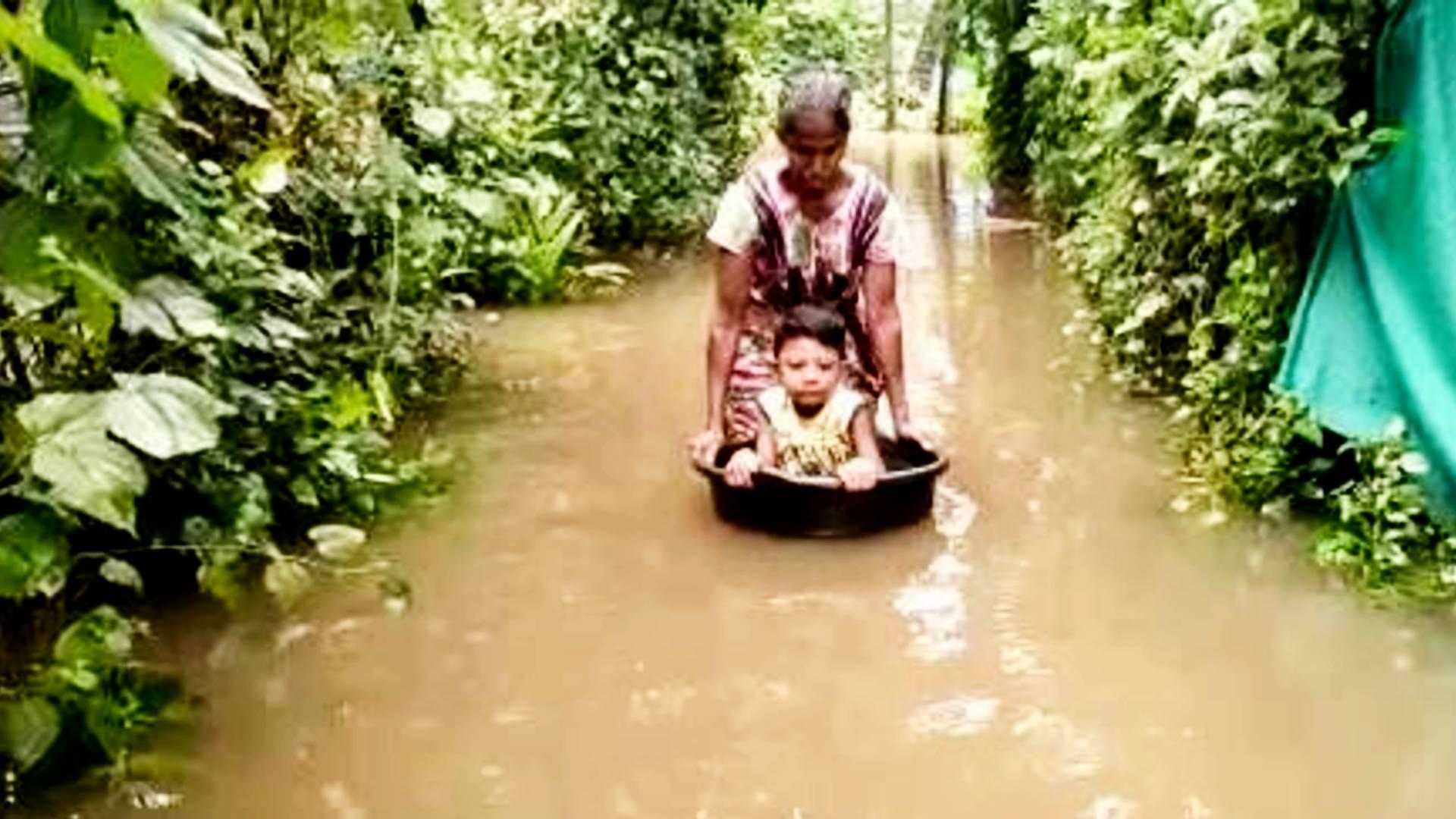 low regions of periyar flooded