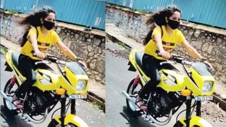 mvd viral bike girl