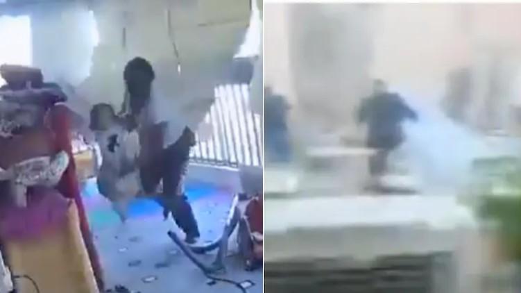 Beirut explosion bride maid