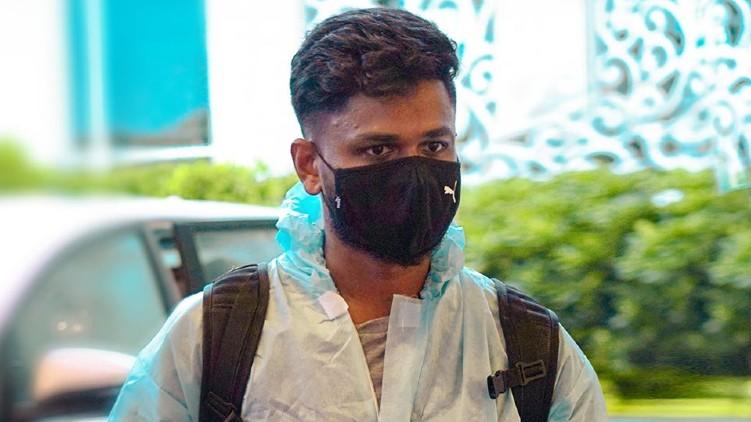 sanju samson reached mumbai