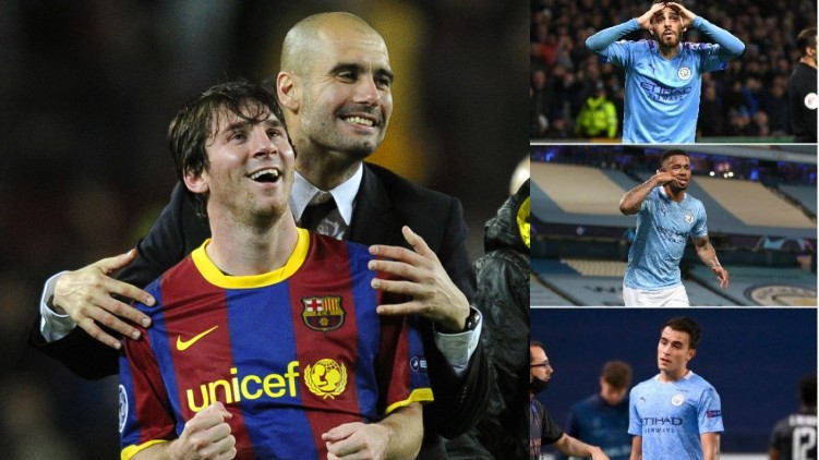 Manchester City players messi