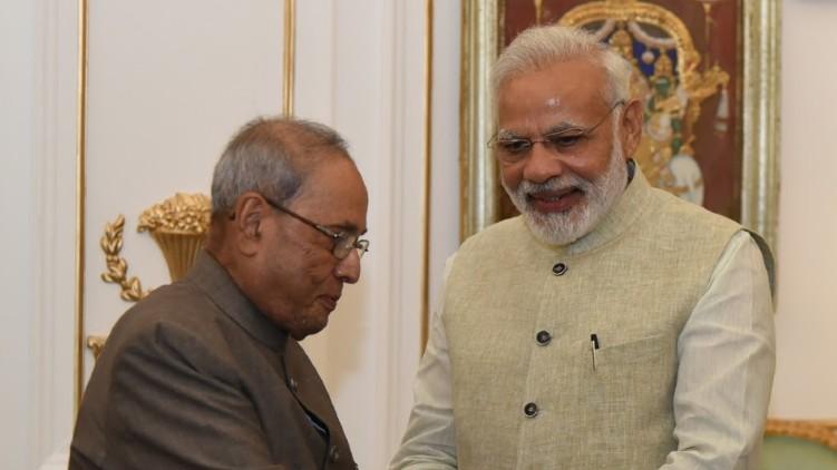 Narendra Modi pranab mukharjee