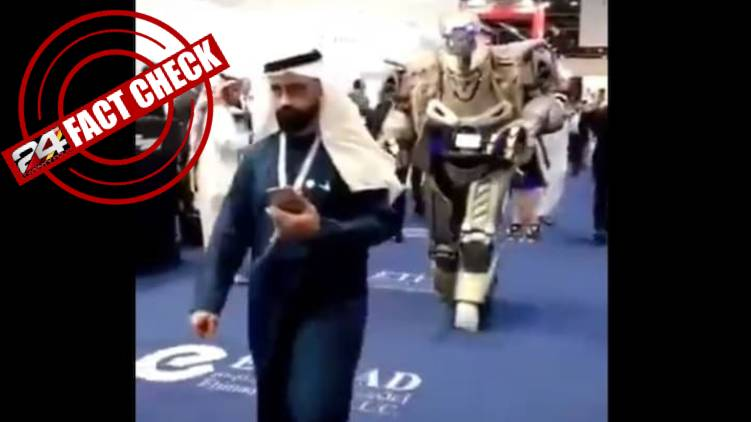 robot with Bahrain king fake news