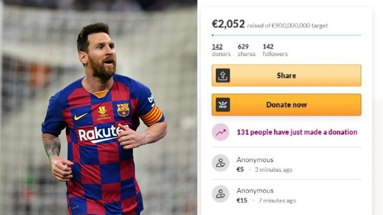 German Club Crowdfund Messi